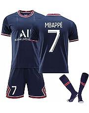 Football Jersey Sweatshirt 7#Mbappé 10#Neymar Short-Sleeved Shirt Shorts Socks Adult and Children Football Uniforms