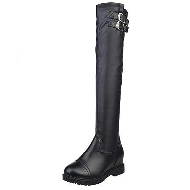 e00775724ed DENER❤ Women Ladies Winter Tall Boots Heels, Leather Wide Calf ...