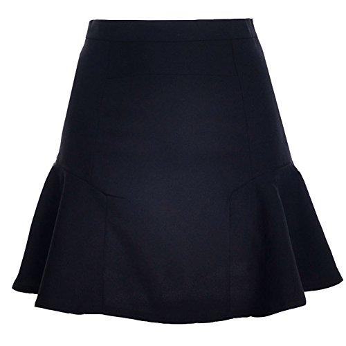 Mujer Faldas Cintura Alta Falda Delgado Minifalda Corto Vestidos De Fiesta Negro