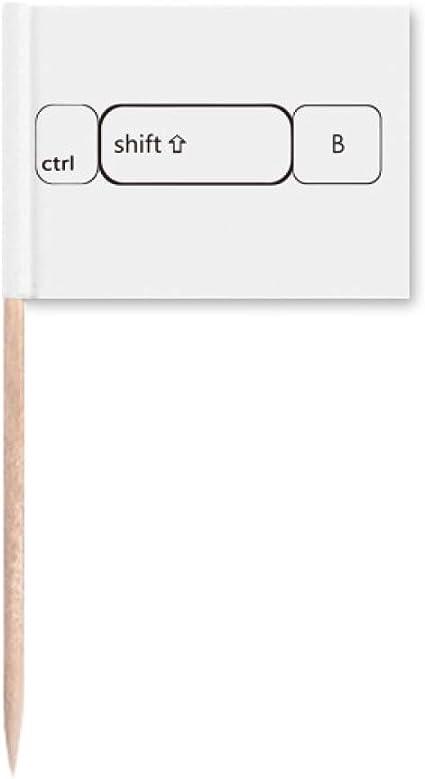 Símbolo de teclado ctrl Shift B banderas de palillo de ...