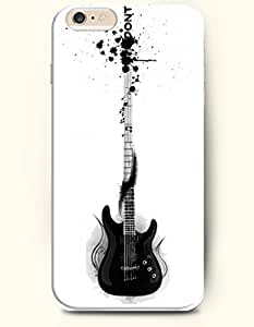 SevenArc Phone Case for iPhone 6 Plus 5.5 Inches with the Design of Black Electronic Guitar