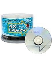 50 Pack Ridata DVD+RW 4X 4.7GB Silver Logo Rewritable DVD Plus RW Re-writable Blank Recordable Media Disc