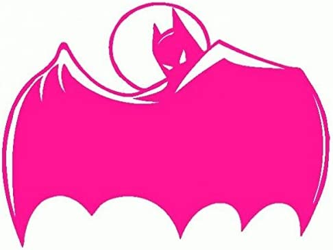 Batman-Pegatinas Prespaziato-- 10 cm, color Fucsia: Amazon.es: Coche y moto