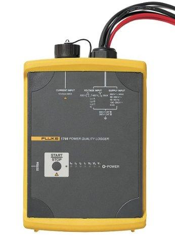 Fluke 1744 BASIC 3 Phase Power Quality Logger Memobox, LED Display, 0.1% Accuracy