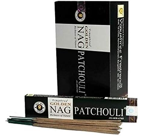 YesMandala 12 Cajas de Incienso Golden Nag Patchouli,180 Varillas ...