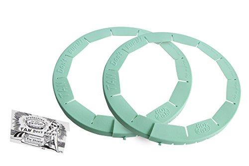 (Talisman Designs Adjustable Pie Crust Shield, BPA-free Silcone, Aqua, Fits 8.5