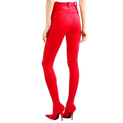 Pants Size High Shoes Boots Heels Party Sexy Pants Tight Boots Apply High Heeled Large To MNII Fashion Banquet Ladies Boots New Siamese Pointed Elastic C Club 7qYw65