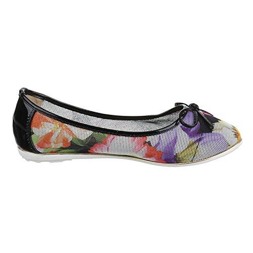 Ital-Design - Bailarinas Mujer Multicolor - Schwarz Multi