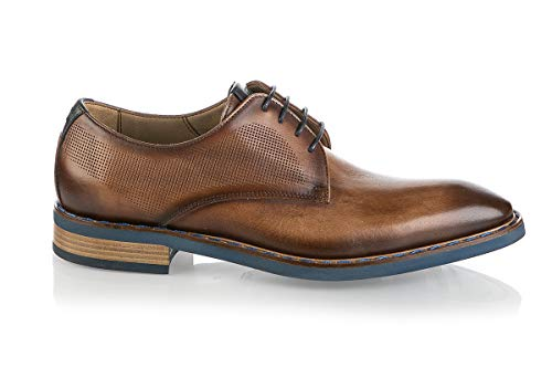 Fiorangelo 6709 Brown Leather Italian Designer Formal Shoes