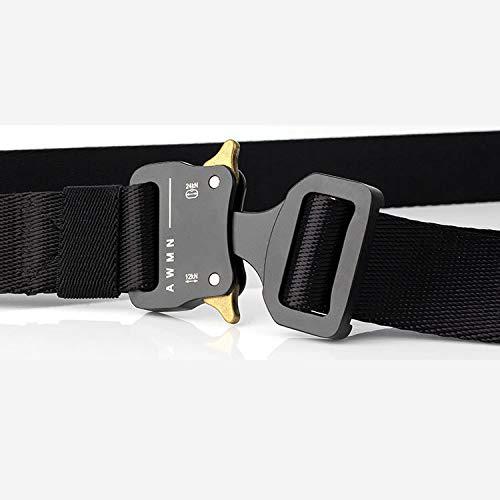 FEIKCOR Outdoor Tactical Belt - Quick Unlock, Free Adjustment, Zinc Alloy Buckle Head Breathable Wear