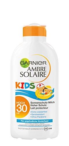 Garnier Ambre Solaire Sonnencreme Kids / Sonnenschutz-Milch für Kinder extra wasserfest / LSF 30, 1er Pack - 200 ml