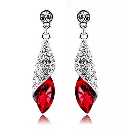 Rhinestone Crystal Teardrop Pendant Earring