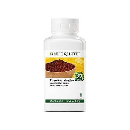 Nutrilite suplemento de hierro masticable - 100 comprimidos / 100 g ...