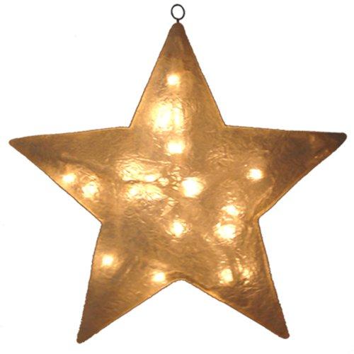 Barcana 20-Inch Illuminated Fiberglass Clear Star Christmas Light