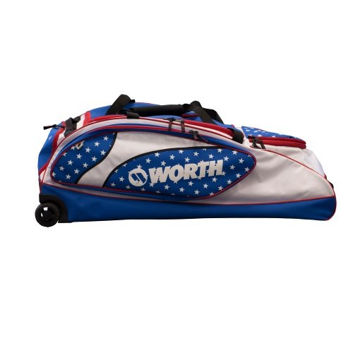 Worth Wheeled Bag WOWHBG - Red/White/Blue by Miken
