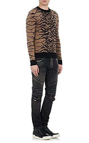Balmain Homme POHT551C710V155 Bleu Coton Jeans