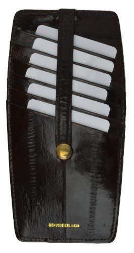 Eel Skin Snap - New Eel Skin Snap Two Sided Credit Card Holder BR #E531