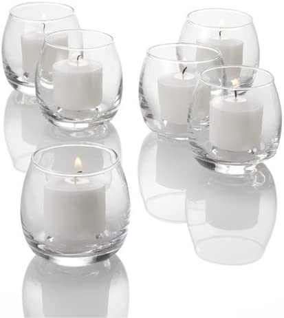 Home Lumini Lot de 4 Bougies votives 46 x 62 cm Blanc 20 x 6 x 6 cm