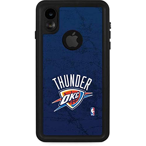 Skinit OKC Thunder Distressed Blue iPhone XR Waterproof Case - Officially Licensed NBA Phone Case Waterproof - Snow, Dust, Waterproof iPhone XR Cover