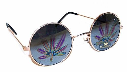 Pot Leaf Reflection Marijuana Mirror - Pot Sunglasses Leaf