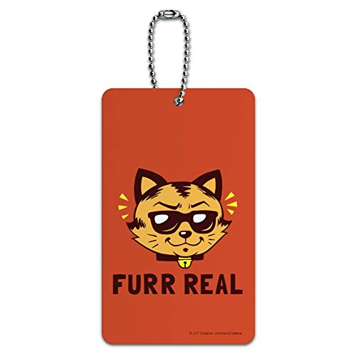 Furr Real Cat For Funny Humor Luggage Card -