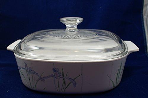 Vintage Corningware Shadow Iris 2 Qt Casserole Dish A-2-b