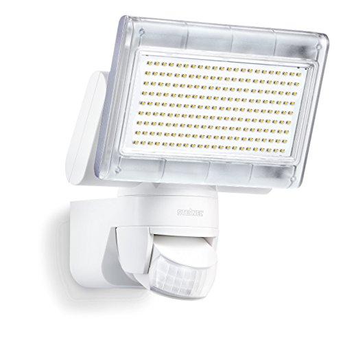 Steinel Sensor LED-Strahler XLED Home 1 weiß, LED-Scheinwerfer mit 140° Bewegungsmelder und...
