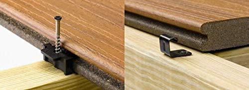 Trex Hidden Universal Deck Fastener 900 Piece Bucket (Covers 500 sq. ft.), Includes 2 Bags (72 pcs) of Trex Starter Clips