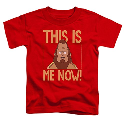 Bobs Burgers Toddlers This Is Me T-Shirt, 2T, Red