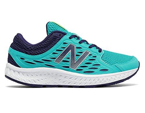 New Balance Women's W420v3 Running Shoe Vivid Ozone Blue/Dark Denim/Lime Glow