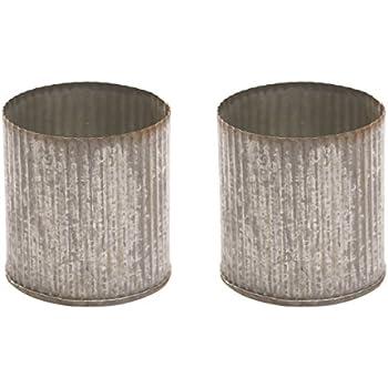 Amazon Rustic Tin Vase Corrugated Sides 325x325