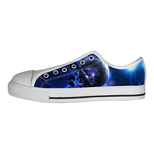 Scarpe Canvas Di I Piatto Shoes In Men's Le Tela Delle Sopra Lacci Custom Universo Alto Da Ginnastica ZBwq8fxyt