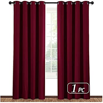 NICETOWN Burgundy Curtains For Living Room