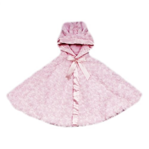 Blankets and Beyond Rosette Cape with Soft Hood Pink by Blankets and Beyond