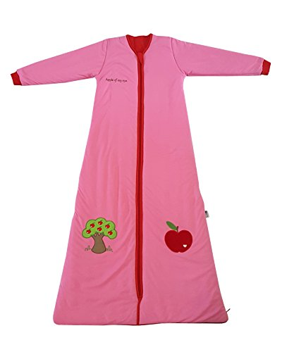 Slumbersac Sleeping Bag with Non Removable Long Sleeves 2.5 Tog-Red Apple - 6-18 months/35 inch