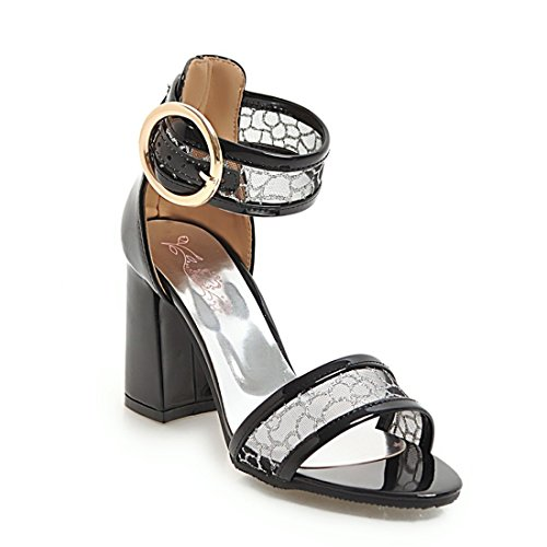 heeled black high moda cave sandali donne il ruvido 39 le sono i sandali sandali sandali wAPZvO