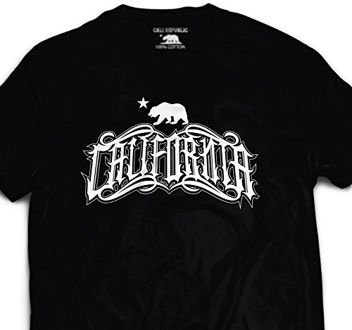 California Tattoo Graffiti T Shirt Cali State So Cal West Side Graphic Design - California Tattoos