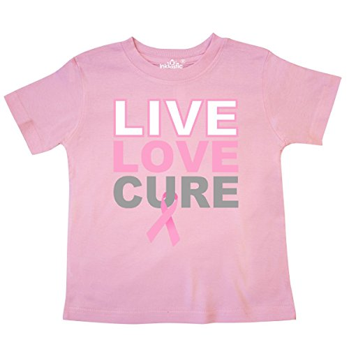 inktastic - Live Love Cure Breast Cancer Toddler T-Shirt 5/6 Pink 27059
