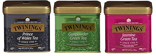 Twinings Classic Teas Tins Variety 3.53 ounce (100 grams) Loose Leaf (Royal Pack)