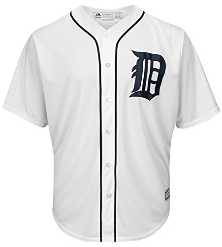Detroit Tigers Home Cool Base Jersey (S) (Tigers White Jersey Majestic)