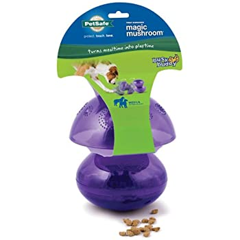 PetSafe Busy Buddy Magic Mushroom Meal Dispensing Dog Toy, Medium/Large