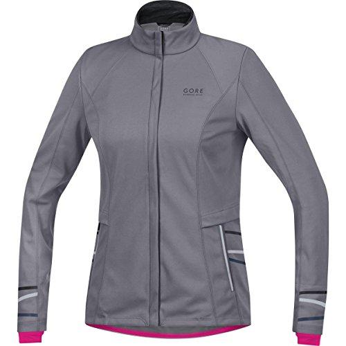 Gore Running Wear Mythos 2.0 Lady Windstopper Softshell Jacket - Women's Asteroid Grey Large
