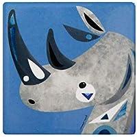 Maxwell & Williams Pete Cromer Wildlife Ceramic Square Coaster 9.5cm Rhino
