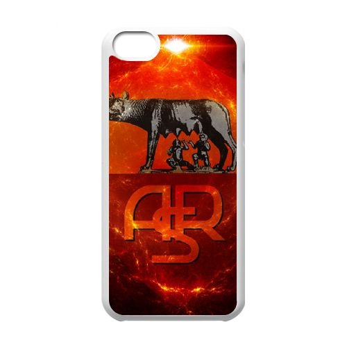 As Roma Logo coque iPhone 5C Housse Blanc téléphone portable couverture de cas coque EBDOBCKCO17494