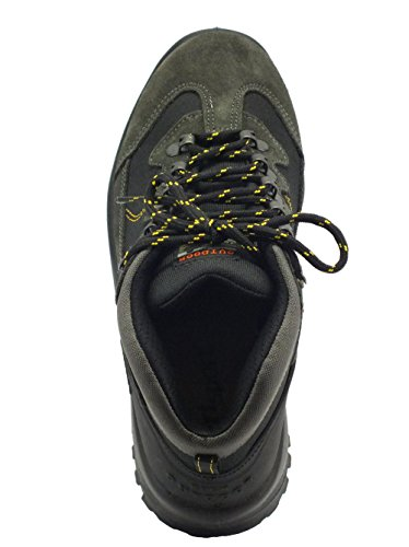 da Grigio per Grisport Uomo Camoscio Scarponcini Trekking scuro Grigio in v4wx7Sq