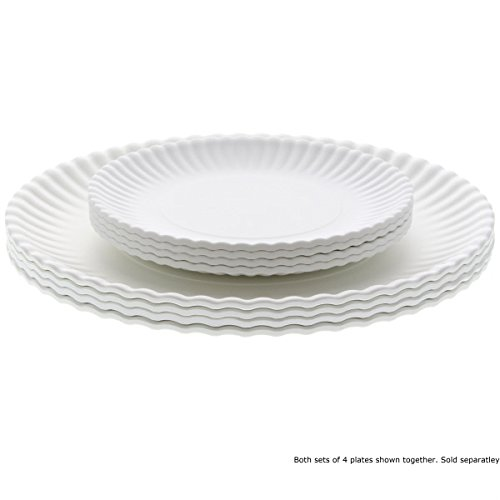 Amazon.com  What Is It?  Reusable Paper  Dinner Plate 9 Inch Melamine Set of 4 Kitchen u0026 Dining  sc 1 st  Amazon.com & Amazon.com: