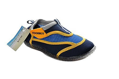 Air cool girls's slip on water shoes beach aqua black 16cm