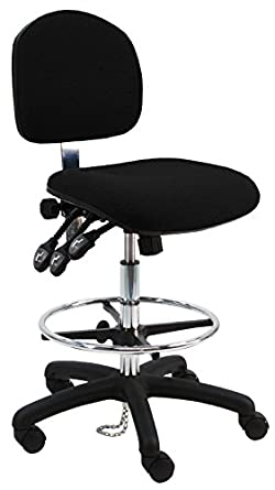 amazon com deluxe fabric ergonomic esd anti static chair stool with