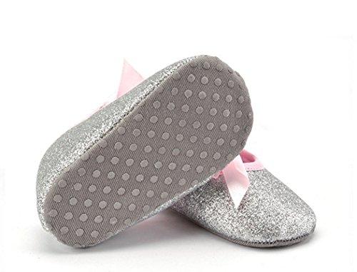 philna12plata Bling Bling Bownot zapatos de bebé