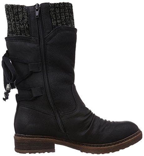 Schwarz 00 Negro para Botas altas Black Rieker grey mujer 94773 nYqOHPH